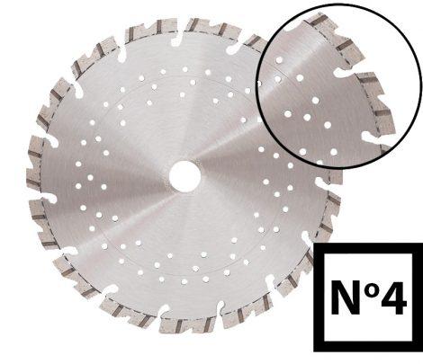 ABRABORO® Turbo gyémánttárcsa No.4 v 125 x 22.23