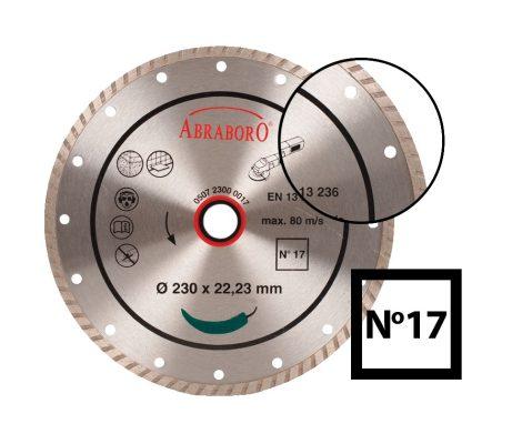 ABRABORO® Turbo gyémánttárcsa No.17125 x 22.23