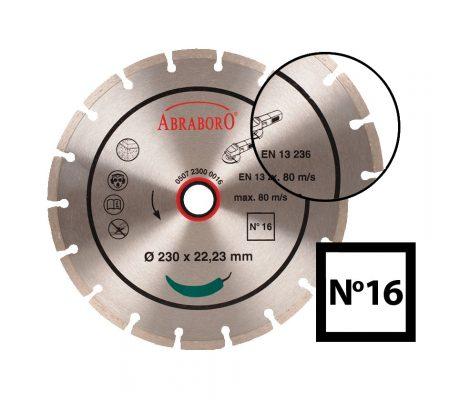 ABRABORO® Univerzális gyémánttárcsa No.16230 x 22.23