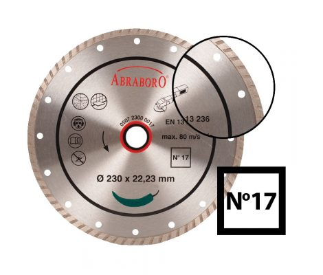 ABRABORO® Turbo gyémánttárcsa No.17230 x 22.23