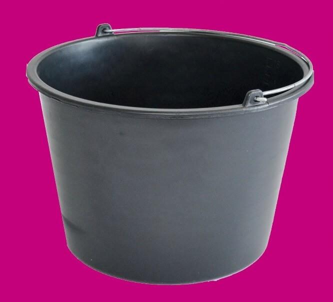 fa5402f0b92b habarcsos vödör; 20 liter, fekete, műanyag - Méta Barkácsbolt