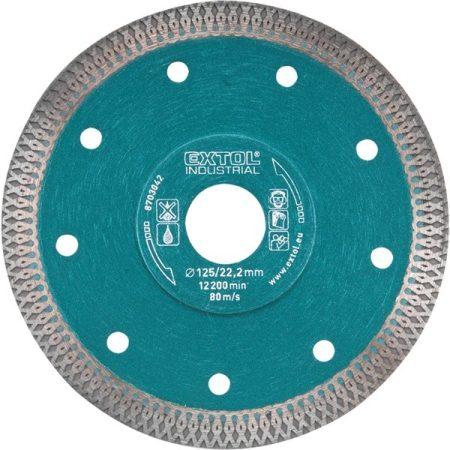 gyémántvágó, ipari korong,TURBO,gyors vágás; 230×22,2mm, száraz és vizes vágásragyémántvágó, EXTOL