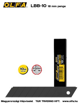 OLFA LBB-10 18 mm-es EXCEL BLACK PENGE